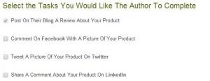 tasks creating a promotion