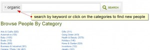 search and categories