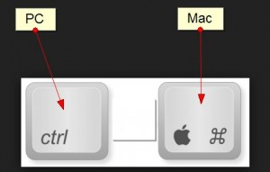 ctrl and command