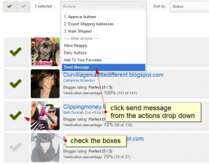 send message from manage page.