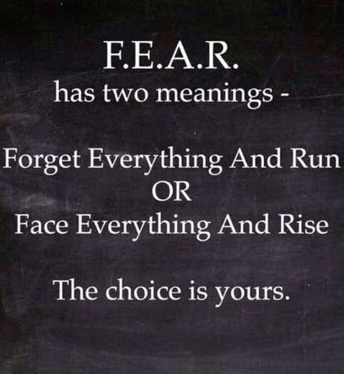 Image of: Life Fear Has Two Meanings Forget Everything And Run Or Face Everything And Rise The Tomoson Blog Top 63 Inspirational Quote Images To Share On Your Social Media