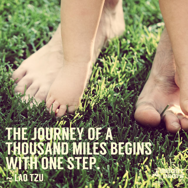 The Journey Of A Thousand Miles Begins With One Step. by Lao Tzu