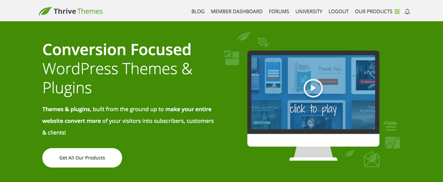Screenshot of Clickfunnels Alternative hoome page