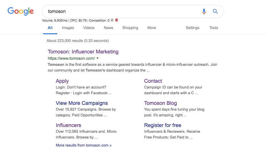tomoson google search seo