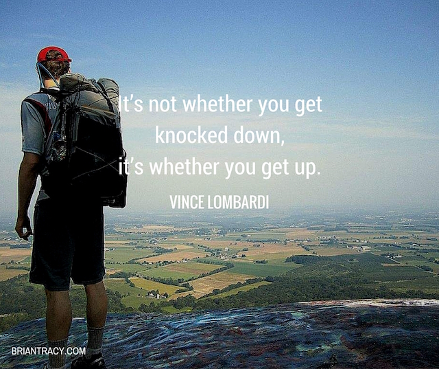 ItS Not Whether You Get Knocked Quote