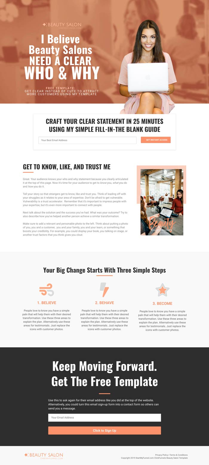 ClickFunnels Beauty Salon Template
