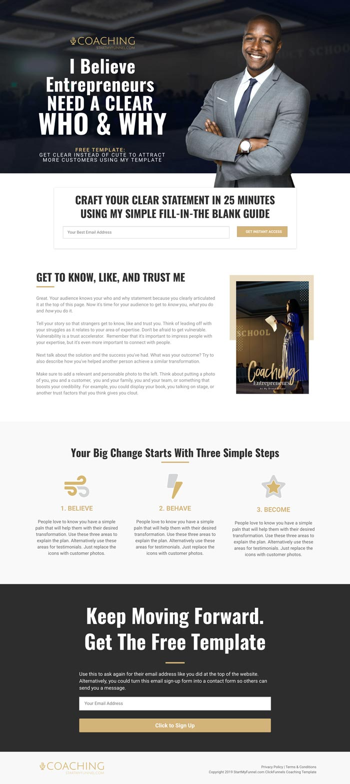 ClickFunnels Coaching Template
