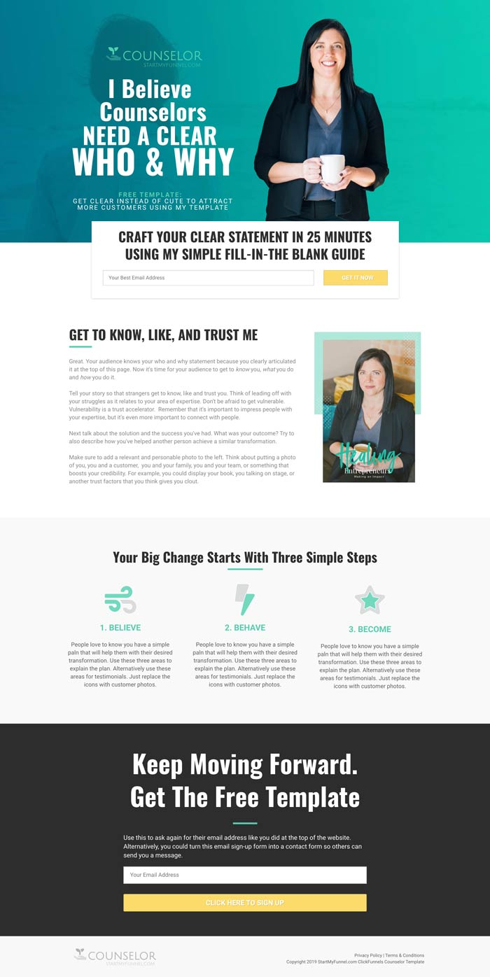 ClickFunnels Counselor Template