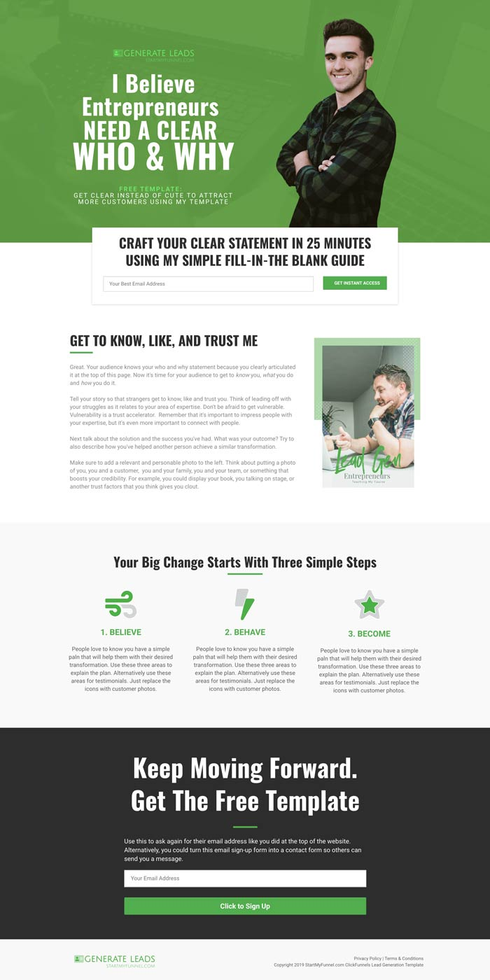 ClickFunnels Lead Generation Template