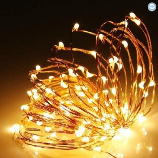 Kohree USB 33ft Copper Wire 100 LED Fairy Starry String Lights Campaign