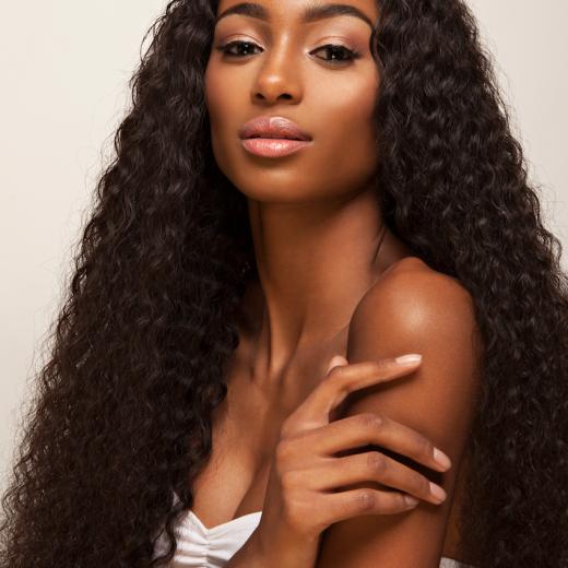 Virgin Peruvian Loose Deep Wave Hair Extensions Campaign