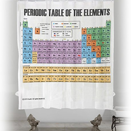 Updated periodic table of elements shower curtain pvc free updated periodic table of elements shower curtain pvc free odorless non toxic fabric campaign urtaz Image collections