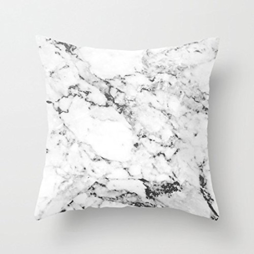 Popawq Decor Canvas Marble Pillowcase Decorative Throw Pillow Cover 26