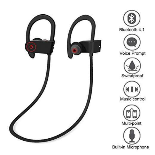 bluetooth headphones wireless bluetooth v4 1 sport headphones noise cancelling earphones and. Black Bedroom Furniture Sets. Home Design Ideas