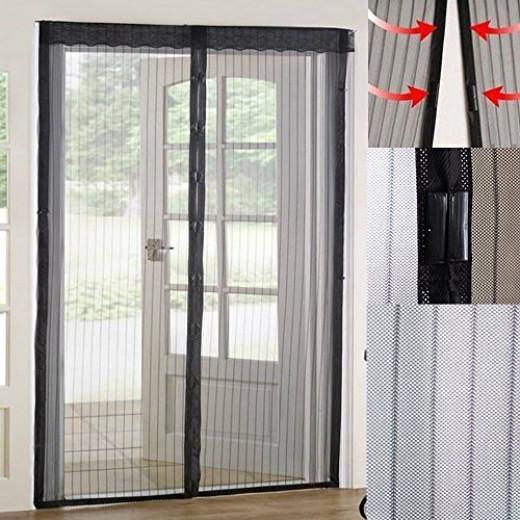 Homee magnetic mesh screen door for french doors garage for 18 x 8 garage door screen