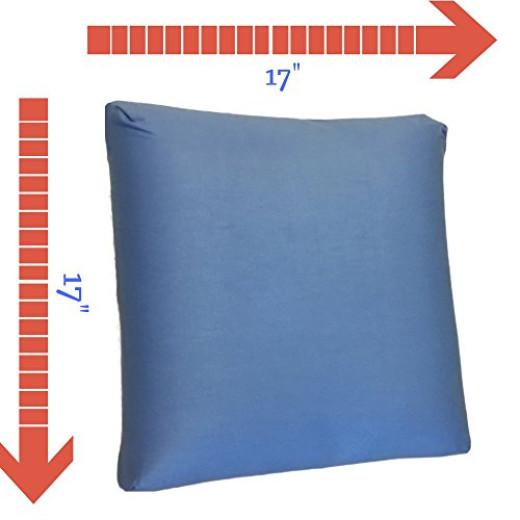 Extra Big Throw Pillows : FOMI Decorative Throw Pillow, Extra Large, Memory Foam, Blue, Cozy Squishy Pillow, Fun Colorful ...