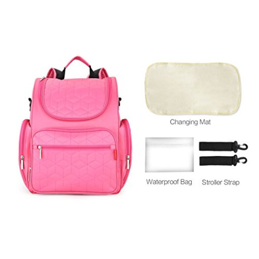 diaper bag baby backpack pink campaign. Black Bedroom Furniture Sets. Home Design Ideas
