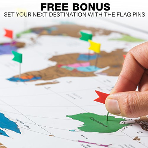 Julios adventures world travel tracker map with free flag pins julios adventures world travel tracker map with free flag pins pen and pick campaign gumiabroncs Choice Image