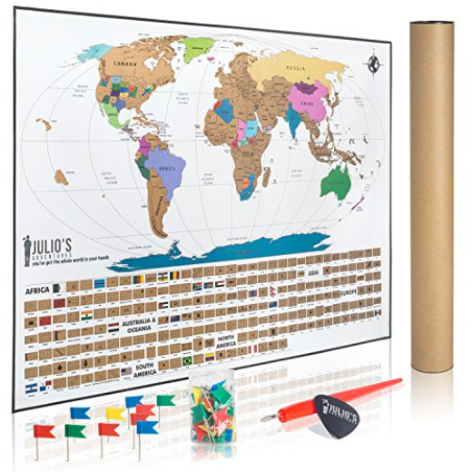 Julios adventures world travel tracker map with free flag pins pen julios adventures world travel tracker map with free flag pins pen and pick campaign gumiabroncs Images