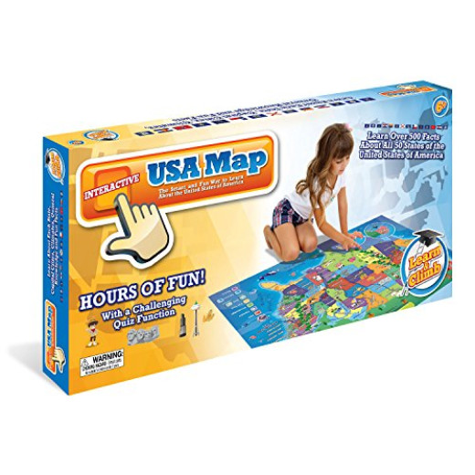 Electronic Kids Map Of The United States 500 Educational Facts Quizzes About Usa 50 States Campaign