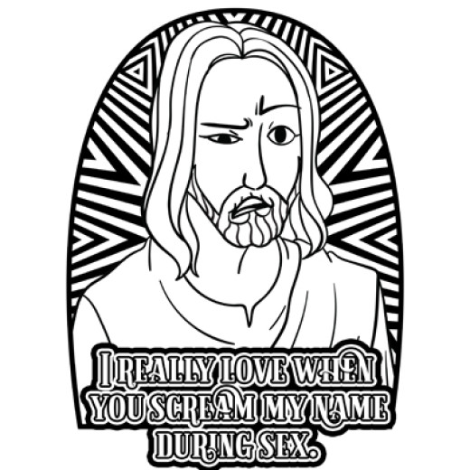 Inappropriate Coloring Books Sarcastic Jesus: Cuss Word Jesus Lets ...