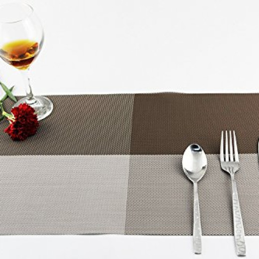 fitstill dining kitchen table placemats set of 4 gray campaign