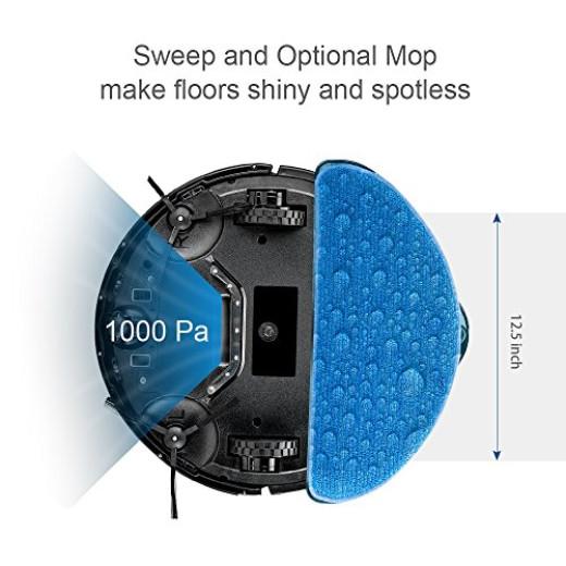 Robot Vacuum Cleaner Brush Mop Water Tank Filter Hard Floor Thin Carpet Pet Hair