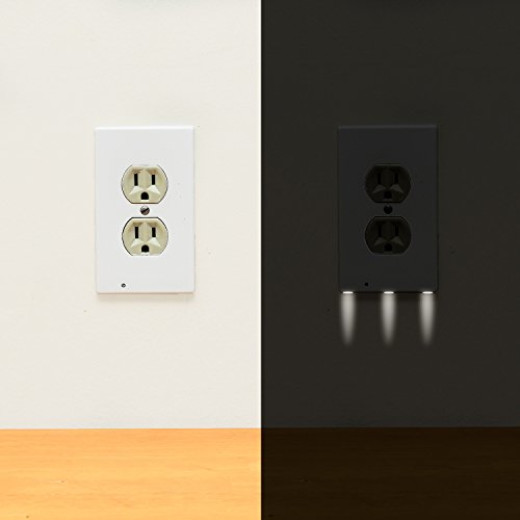 Instant install wall outlet cover 1 pack with led night light campaign aloadofball Choice Image