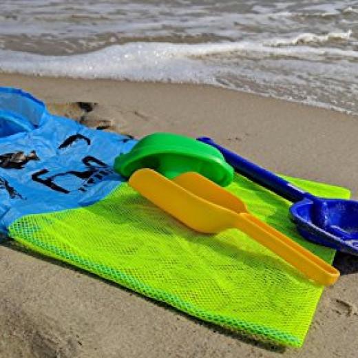 Sac filet fourre tout parfait pour jouets de plage for Piscine coquillage