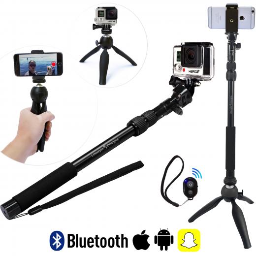 hd gopro selfie stick pro tripod snapchat remote campaign. Black Bedroom Furniture Sets. Home Design Ideas