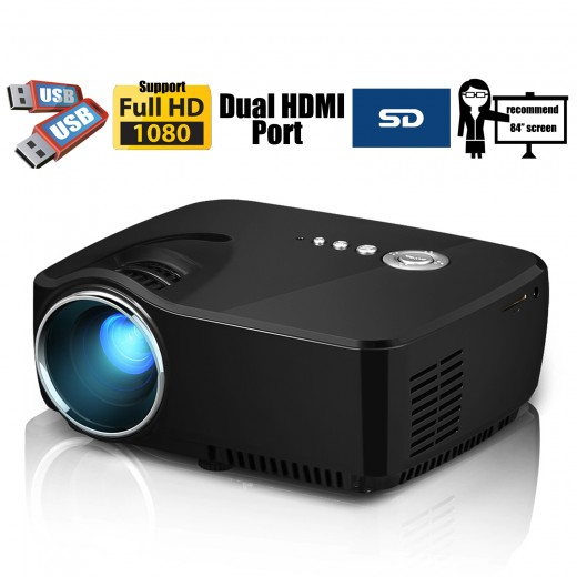 Led multimedia home theater 1080p mini projector campaign for Best mini projector for powerpoint presentations