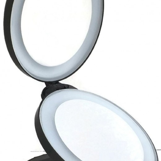 . Lighted Travel Makeup Mirror with 10X Magnifying Campaign