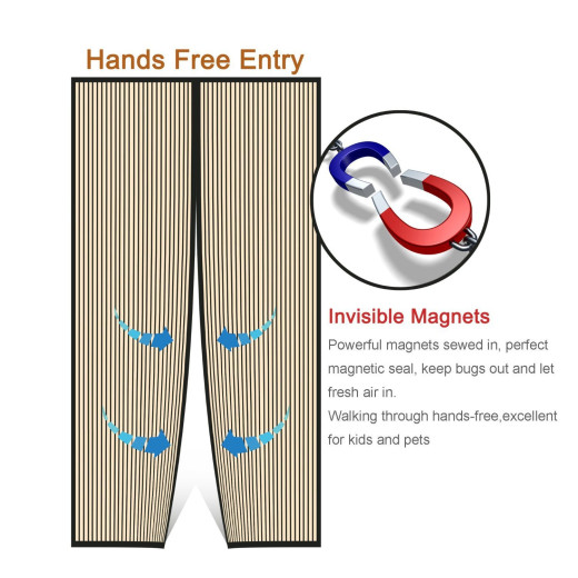 Heavy Duty Mesh Curtain Magnetic Screen Door Campaign