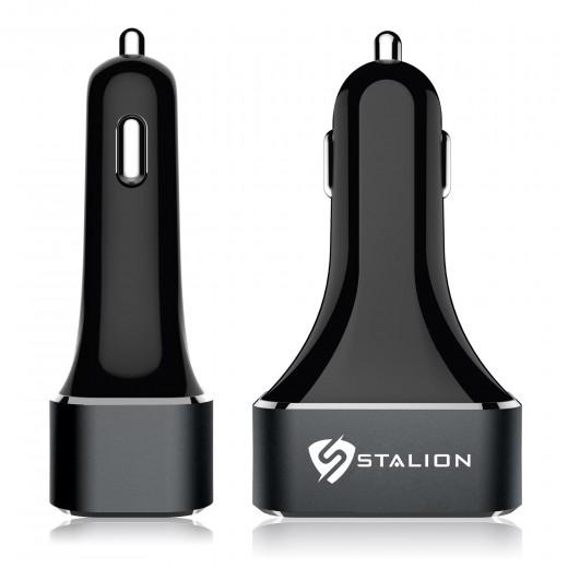 stalion 5 port car charger black 12 amps 5 volts 60
