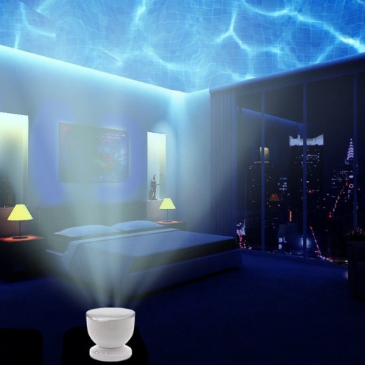 led bedroom night light ocean wave projector speak campaign