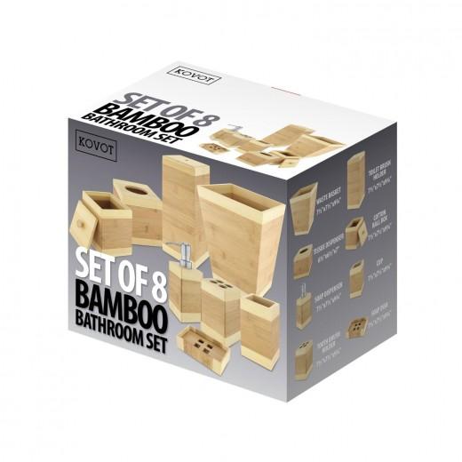 Kovot Bamboo Bathroom Accessories Piece Set Campaign